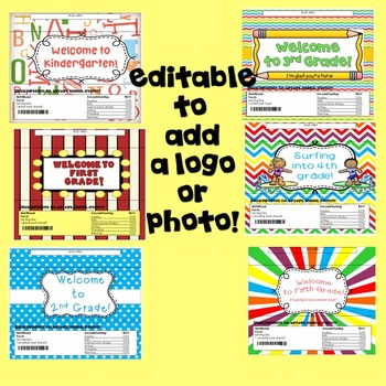 Beginning of the Year-Candy Bar Wrapper!  All Grade Levels!