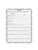 Beginning of the Year Child Information Sheet