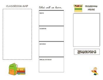 Beginning of the Year Classroom Brochure