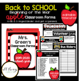 Beginning of the Year Classroom Forms