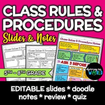 Classroom Management Rules & Procedure Lesson