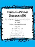 Beginning of the Year Classroom Resource Bundle