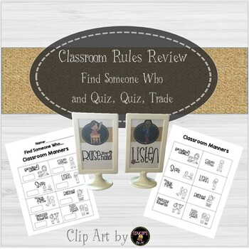 Beginning of the Year Classroom Rules - Quiz, Quiz, Trade and Find Someone Who