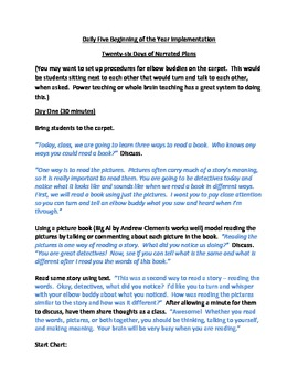 Beginning of the Year Daily Five Lessons