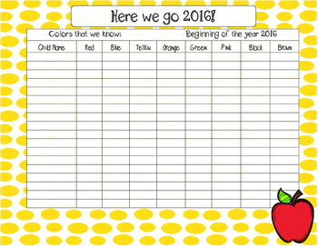Beginning of the Year Data Collector