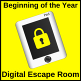 Back to School Escape Room Digital Distance Learning