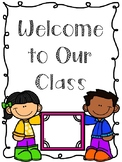 Beginning of the Year Documents to Start your Class!