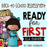 Back to School ELA Phonics Assessments for First Grade