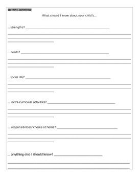 Beginning of the Year, Editable, Getting to Know You Questionnaire