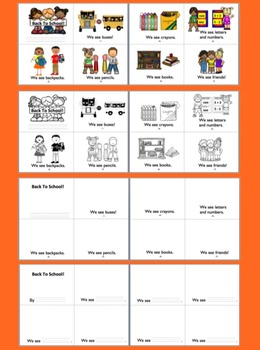 Beginning of the Year:  Back to School Readers + Illustrated Word Wall