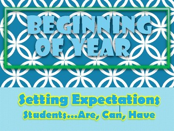 Beginning of the Year Expectations Chart