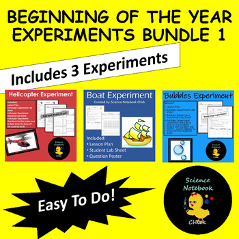 Beginning of the Year Experiments Bundle #1