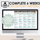 Expository Essay Writing Essentials: Six Weeks Unit