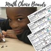 First Grade Math Center Choice Boards