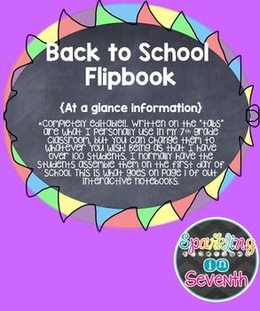 Beginning of the Year Flipbook- 100% Editable!!