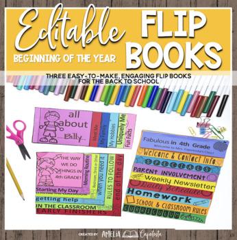 Beginning of the Year Flipbooks {Editable}