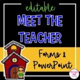 Meet the Teacher & Back to School Bundle (editable)