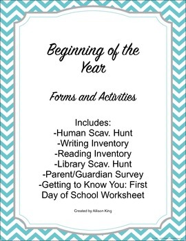 Beginning of the Year- Forms and Activities