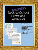 Secondary Beginning of the Year Forms and Activities