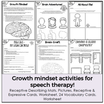 Beginning of the Year Fun for Speech Therapy (Growth mindset activities)