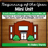 Beginning of the Year GLAD Mini Unit