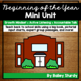 Beginning of the Year Mini Unit
