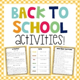 Beginning of the Year Activities