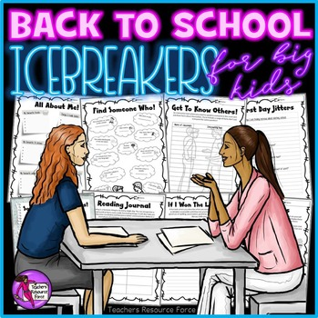 First day of school activities Get To Know You Ice Breakers