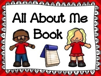 "Beginning of the Year Getting to Know Me Book-- ""ALL ABOUT ME BOOK"""