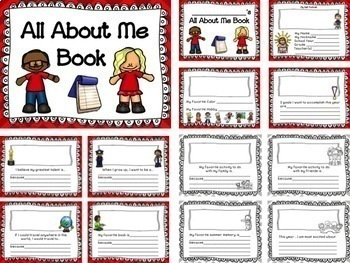 "Beginning of the Year ""ALL ABOUT ME"" Book & End of Year Memory Book BUNDLE"