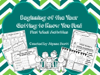 Beginning of the Year Getting to Know You!
