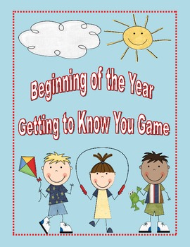 Beginning of the Year Getting to Know You Game