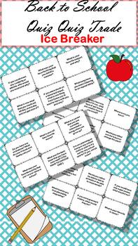 Back to School Quiz Quiz Trade Cards