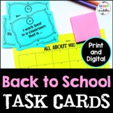 Back to School Task Cards: Get to Know Your Students!