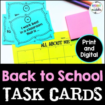 Get to Know Your Students! Task Cards for the Beginning of