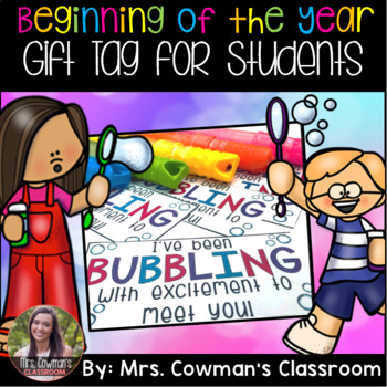 Beginning of the Year Gift Tag - Bubbles
