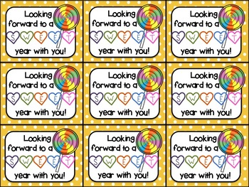 Beginning of the Year Gift Tag (Looking Forward to a Sweet Year with You)