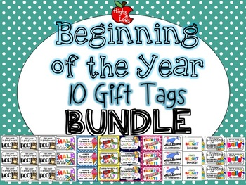 Beginning of the Year Gift Tag Mega Bundle