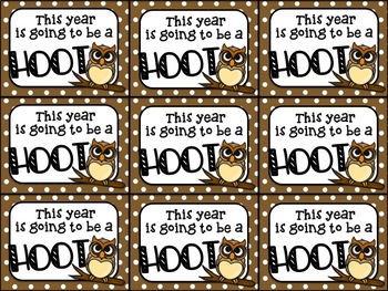 Beginning of the Year Gift Tag (This year is going to be a HOOT)