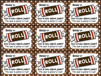 Beginning of the Year Gift Tag Tootsie Roll- Ready to roll into new school year?