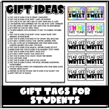 Beginning of the Year Gift Tags