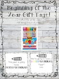 Beginning of the Year Gift Tags Smencils Scented Pencils