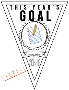 Beginning of the Year Goal Pennants