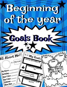 Beginning of the Year Goals Book