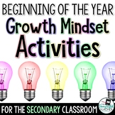Back to School Growth Mindset Activities