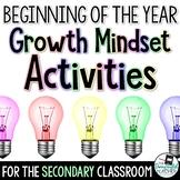 Back to School Growth Mindset Activities