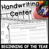 Beginning of the Year Handwriting Station * No Prep* Handwriting Center
