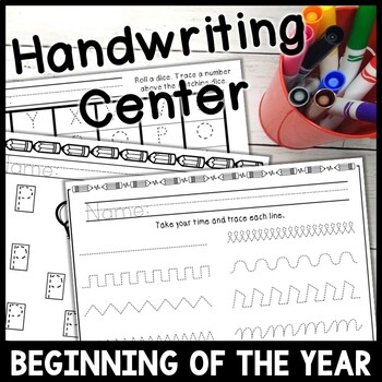 Beginning of the Year Handwriting Station * No Prep*