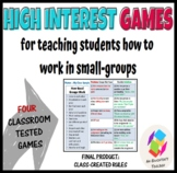 Four High Interest Games for Training Students to Work in Small Groups