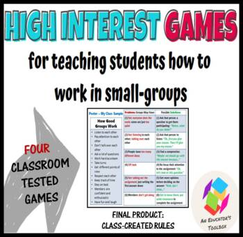 Four Games for Training Students to Work in Small-Groups